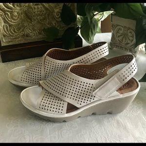 Clark's white shoes